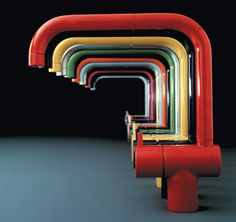Arne Jacobsen's iconic faucet is most often seen in a stainless or chrome finish, but it comes in 18 colors.