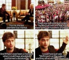 That time he told J.K. Rowling about his premiere experience.   25 Times The Internet Fell In Love With Daniel Radcliffe