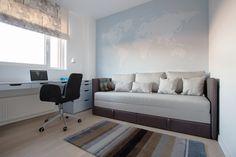 Apartment in Vilnius by Normundas Vilkas Modern Interior, Interior Architecture, Interior Design, Home Office Design, House Design, Teenage Room, Home Board, Guest Room Office, Wall Maps