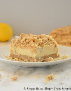 Creamy Lemon Cheesecake Crumb Bars
