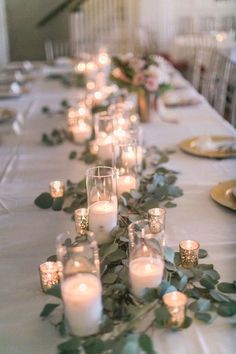 20 Romantic Wedding Centerpieces With Candles- vintage candle and greenery wed. 20 Romantic Wedding Centerpieces With Candles- vintage candle and greenery wedding centerpiece Floral Wedding, Fall Wedding, Wedding Set, Garden Wedding, Perfect Wedding, Wedding Favors, Christmas Wedding, Wedding Dinner, Wedding Events