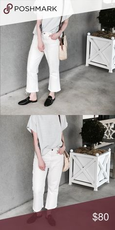 White denim jeans Great summer staple! Madewell Jeans Boyfriend