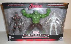 Marvel Legends Action Figure Set Incredible Hulk Vision Ultron AVENGERS CE #Hasbro