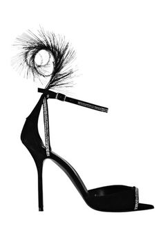 pierre hardy feathered suede shoe -