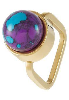Sabrina Dehoff Ring goldcoloured/purple Accessoires bei Zalando.de   Accessoires jetzt versandkostenfrei bei Zalando.de bestellen!