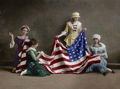 El nacimiento de la bandera estadounidense, Washington. 1915 © Shorpy