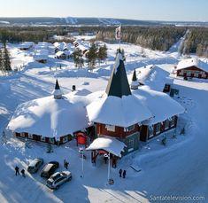 Weihnachtshaus im Weihnachtsmanndorf in Rovaniemi in Lappland, Finnland