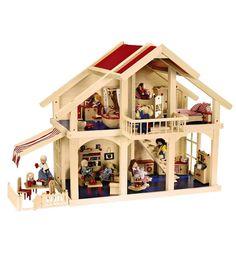 Wooden Dollhouse color scheme