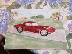 Corvette for my dads Christmas present. I put platinum on it to make it look as if it has chrome! Took 4 painting sessions to do this one! Onto the next!!