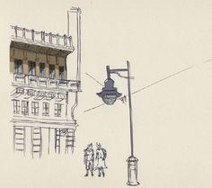 city - illustration in progress by Federica Fragapane, via Behance