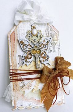 Shabby Chic Gift Tag Prima Daughter Friend by MyScrapCabinShop, $5.99