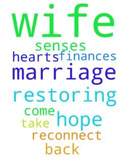 Prayer for Hope in Restoring my Marriage. And My Wife - Prayer for Hope in Restoring my Marriage. And My Wife to come to her Senses to take me back. To Reconnect our Hearts and my Finances. Posted at: https://prayerrequest.com/t/Gba #pray #prayer #request #prayerrequest