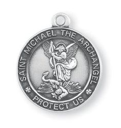 40 best st michael medals images on pinterest michael okeefe saint michael medal inch sterling silver protect us pendant hmh aloadofball Choice Image