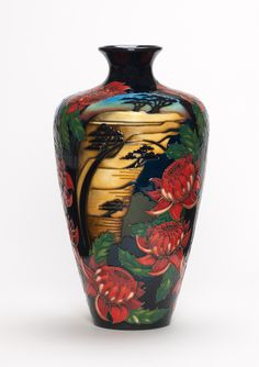 ·Moorcroft Pottery | moorcroft pottery design blue mountains waratah designer vicky lovatt