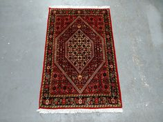 1980s Vintage Hand-Knotted Bijar Persian Rug (3610) by JahannAndSons on Etsy