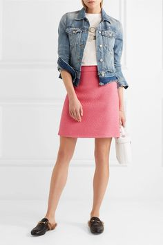 Gucci | Cotton-blend tweed mini skirt | NET-A-PORTER.COM