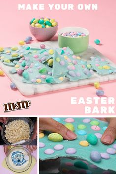 A step by step guide to creating this season's delicious M&M'S Easter Bark. Easter is better when it's #MadeWithM. Find the full recipe right here: https://www.youtube.com/watch?v=i0zBaxkBtPI