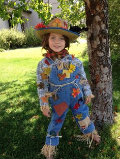 Adorable Girls or Boys Scarecrow Costume with Hat and Crow! on Etsy, $45.00
