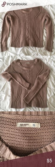 Crotchet Sweater Perfect for staying stylish and warm 🌬 Great condition! Old Navy Sweaters Crew & Scoop Necks