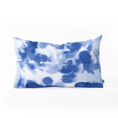 Lisa Argyropoulos Aquatica Denim Blues Oblong Throw Pillow | DENY Designs Home Accessories