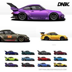 """471 Likes, 2 Comments - Dirty Nails Bloody Knuckles (@dirtynailsbloodyknuckles) on Instagram: """"RWB singles and collection artwork for your office, living room, garage or mancave (or womancave),…"""""""