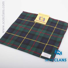 MacLeod of Harris Modern Tartan Pocket Square. Free worldwide shipping available.