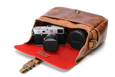 ONA | The Bowery for Leica Camera Bag and Insert - Antique Cognac