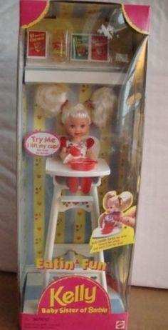 Mattel Barbie Eatin' Fun Kelly Doll Playset 1997 Baby Sister of Barbie | eBay