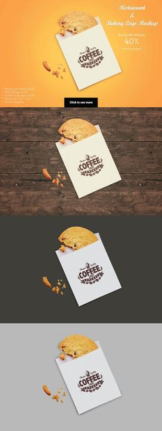 Restaurant Mockup_12 (Cookie wrap) by shrdesign on @creativemarket