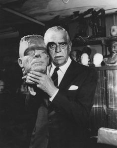 """Looks like a cast of Lon Chaney Jr. as The Monster with Boris Karloff.  """"The Monster was the best friend I ever had."""" - Boris Karloff."""