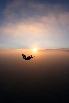 A freefalling skydiver by Murray Mitchell