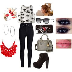 A fashion look from July 2015 by pretty-little-liars-lover featuring Chicnova Fashion, Rodarte, Charlotte Russe, Alexander McQueen, Michael Kors and Ray-Ban