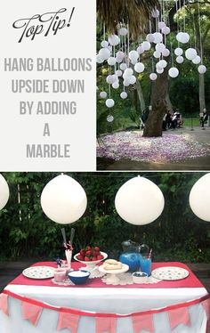 How To Hang Balloons Upside Down For Weddings! Great idea if you don't want to use helium