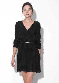Vestido negro plisado #LBD