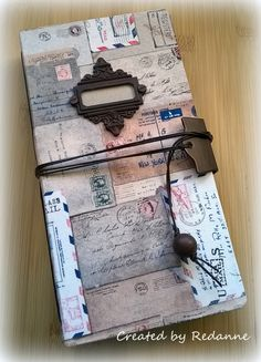 HeARTfelt Handmade Journal Ideas: Tim Holtz Fabric Journal by Anne Redfern