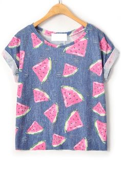 Distress Watermelon Tee • Watermelon is my favorite fruit; therefore this is the best summer shirt