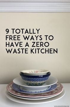 9 totally free ways to have a more zero waste kitchen — Less Waste World - Going Zero Waste: eco friendly lifestyle tips, recipes, and diys - conscious Going Zero Waste, Zero Waste Home, No Waste, Reduce Waste, Food Storage, Composting At Home, Waste Reduction, Sustainable Living, Eco Friendly