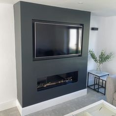 Home Fireplace, Fireplace Design, Fireplaces, Living Room Tv, Home And Living, Bungalow Renovation, Transformation Tuesday, Cozy House, Basement