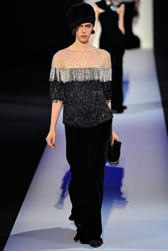 Giorgio Armani Fall 2013 Ready-to-Wear Fashion Show - Georgia Hilmer