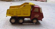 Vintage 1970s Tonka Metal Mini  Dump Truck  Red and by toysfrom70s