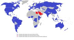 Countries with citizens who died in the 9/11 bombings -