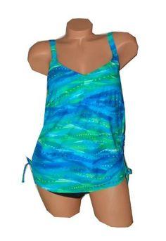 becd1631f03 Delta Burke Swimwear PLUS SIZE Underwater Surprise 2-piece Tankini Style  Swimsuit: http: