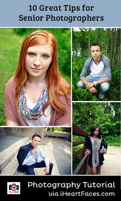 10 Tips for Senior Photographers on I Heart Faces Photography Blog