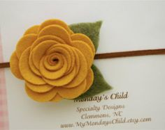 Felt Flower Crown Baby Flower Crown Felt Flower by MyMondaysChild