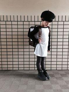 お久しぶりの登校コーデ♩ 今日は少し肌寒く、秋コーデで 登校していきました beret#M