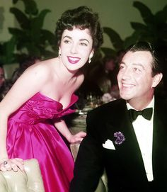 Liz Taylor and Robert Taylor