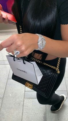 Image about chanel in Pleasing Bags, Clutches & Purses by Pleasing TT Eye Cute Jewelry, Jewelry Accessories, Accesorios Casual, Bad Girl Aesthetic, Balenciaga Speed Trainer, Bling, Luxe Life, Rich Girl, Mode Inspiration