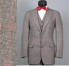Vintage Men's Suits 1940S   Vintage Mens Suit 1970s CHAPS RALPH LAUREN American Mod 3 Three Piece ...