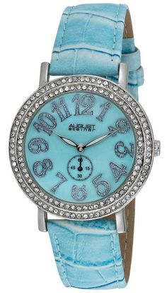 da048ac8d August Steiner As8030Bu Mop Crystal Quartz Strap Womens Watch Rolex Watches,  Cool Watches, Watches