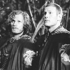 Rupert Young and Tom Hopper Tom Hopper, Prince Arthur, Merlin Cast, Best Tv Series Ever, Merlin And Arthur, Man Crush Monday, Bbc, It Cast, Actors